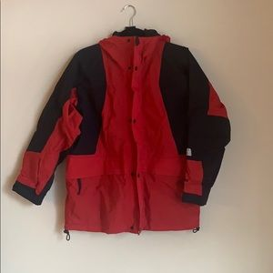 The North Face kids red winter jacket